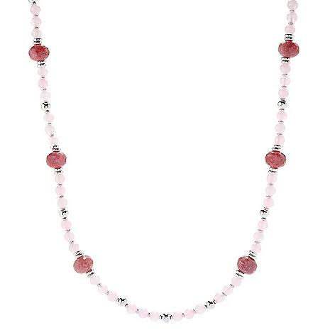 "Sorrento Italian_Silver 30""_Gemstone Beaded_Necklace"