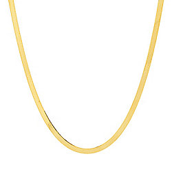 Necklaces - 183-933 Stefano Oro 14K Gold Classic Herringbone Polished Chain Necklace - 183-933
