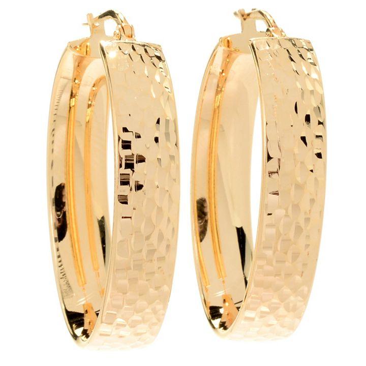 5 Star Jewelry Top-Rated - 184-037 Toscana Italiana 1.5 Diamond Cut Hoop Earrings