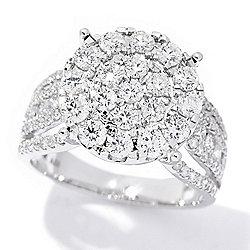 184-072 Diamond Treasures® 14K Gold 1.70ctw Diamond Cluster Cocktail Ring - 184-072