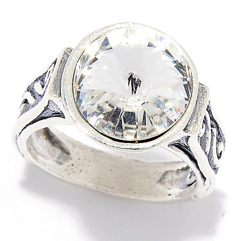 cd7b88d3933d0 Passage to Israel™, Sterling Silver, Solitaire Ring, Made w/, Swarovski  Crystal