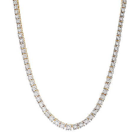 Diamond_Treasures® 14K_Gold_Choice_of_Length_Diamond Graduated Tennis_Necklace