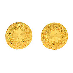 "Lambert Cheng ""All Star"" 24K Gold Diamond Cut Stud Earrings"