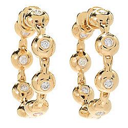 Earrings - 184-262 Sonia Bitton Galerie de Bijoux® 14K Gold 1 0.56ctw Diamond Station Hoop Earrings - 184-262