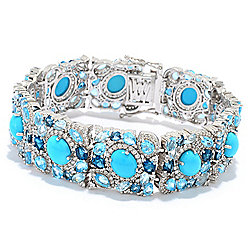Sleeping Beauty Turquoise at ShopHQ - 184-402 Victoria Wieck Collection Sleeping Beauty Turquoise & Multi Gemstone Bracelet - 184-402
