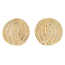 Sonia Bitton Galerie de Bijoux® 14K Gold 1.99ctw Diamond Front-Facing Domed Button Earrings