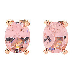 Victoria Wieck for Brilliante® Oval Cut Simulated Morganite Stud Earrings