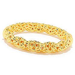Bracelets - 184-612 VOGA Collection 18K Gold 6.75 Electroform Byzantine Hinged Bangle Bracelet - 184-612