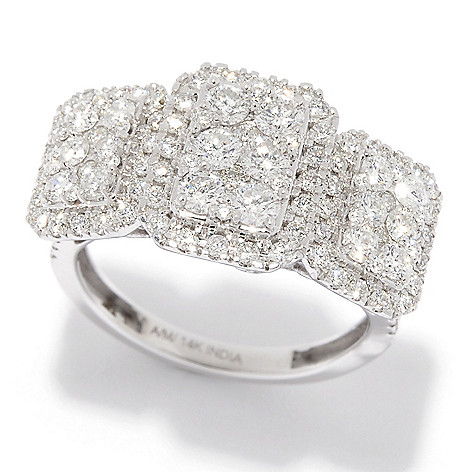 Diamond_Treasures® Elite_14K_Gold 1.49ctw_Diamond 3-Stone-Style_Ring