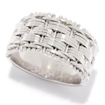 Silver Jewelry Steals Under $100 184-774 Sorrento Italian Silver Textured & Polished Riccio Band Ring, 8 grams - 184-774