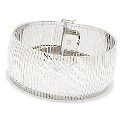 Sorrento Italian Silver - 184-781 Sorrento Italian Silver 7.5 Wide Panel Bracelet, 39.7 grams - 184-781