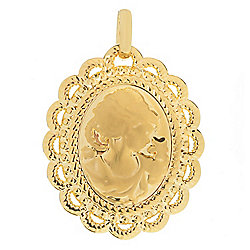 VOGA Collection - 184-833 VOGA Collection 18K Gold Electroform Polished Cameo Pendant - 184-833