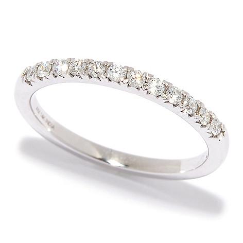 Diamond_Treasures® 14K_Gold 0.20ctw_Diamond_ Half-Eternity_Stack_Band_Ring