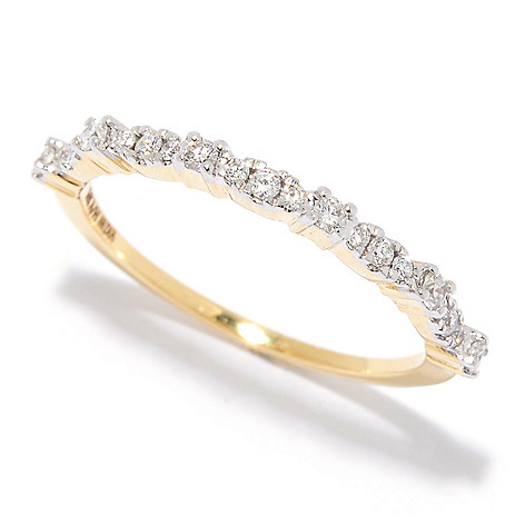 Diamond_Treasures® 14K_Gold 0.21ctw_Diamond Stack_Band_Ring