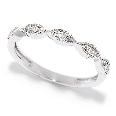 Diamond_Treasures® 14K_Gold 0.10ctw_Diamond Stack_Band_Ring