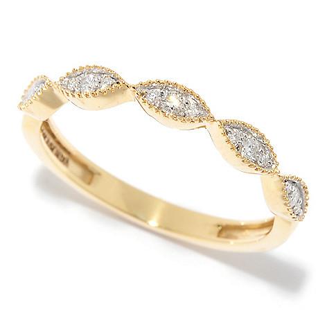 Diamond_Treasures® 14K_Gold 0.10ctw_Diamond Stack_Band_Ring