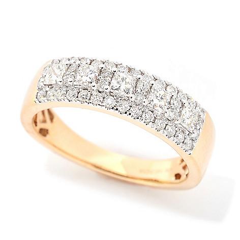 Diamond_Treasures® Elite 14K_Gold_0.74ctw Princess_Cut Diamond_Band_Ring