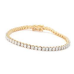 Bracelets - 185-279 Diamond Treasures® 14K Gold Choice of Length Diamond Tennis Bracelet - 185-279