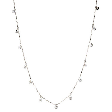 Diamond_Treasures® Sterling_Silver Choice_of_Design Charm Station_Necklace