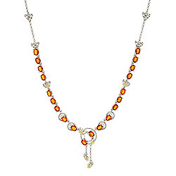 Necklaces - 185-364 Gemporia 18 8.96ctw Orange Kyanite & Yellow Sapphire Necklace w 2 Ext - 185-364