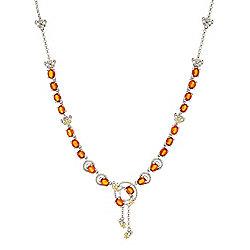 Necklaces - 185-364 Gemporia 18 8.96ctw Orange Kyanite & Yellow Sapphire Necklace w 2 Ext - 185-364
