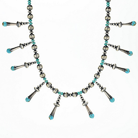 """Sunwest_Silver 18""""_Choice_of Gemstone Drop_Necklace w__1.75""""_Extender"""
