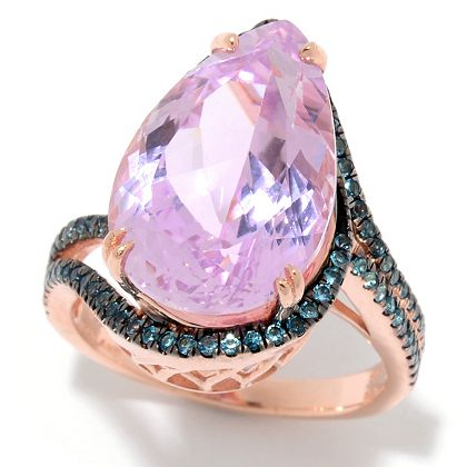 Last 24 Hours Now's Your Chance at ShopHQ |  185-550 Victoria Wieck Collection 10.38ctw Pear Cut Kunzite & London Blue Topaz Ring