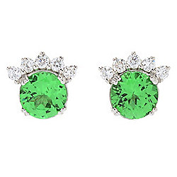 "Sonia Bitton Galerie de Bijoux® ""Bright Eyes"" 14K White Gold Gem & Diamond Earrings"