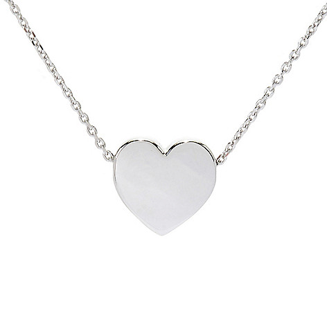 """Sorrento Italian_Silver 16""""_Heart_or_Star Necklace w__2""""_Extender"""