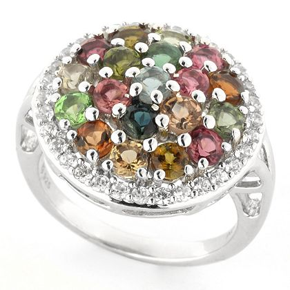 Gemporia Ft. Kyanite & Sapphire & More - 185-688 Gemporia Choice of Gemstone & White Zircon Halo Ring