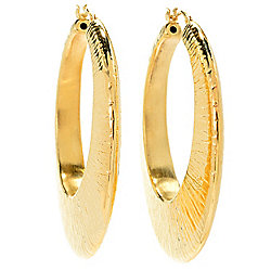 Toscana Italiana - 186-083 Toscana Italiana 1.75 Electroform Rigato Hoop Earrings - 186-083
