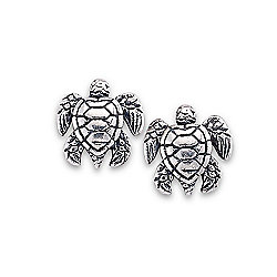 Artisan Silver by Samuel B. Silver Turtle Stud Earrings, 1 gram
