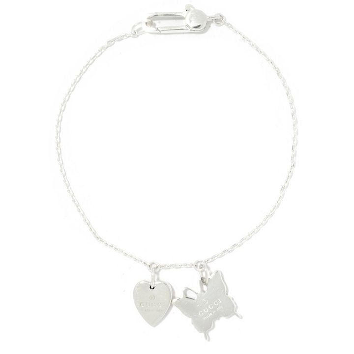 Gifts of Luxury at ShopHQ | 186-288 Gucci Trademark Sterling Silver 7 Charm Bracelet, 5.7 grams