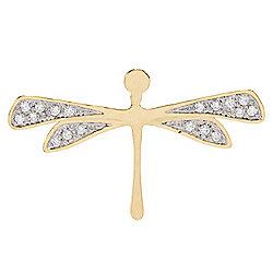 Pendants -  TORRINI 1369 Renaissance 14K Gold 0.22ctw Diamond Dragonfly Pendant - 186-315