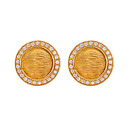 Michelle Albala 18K Gold 0.80ctw Diamond Stud Earrings