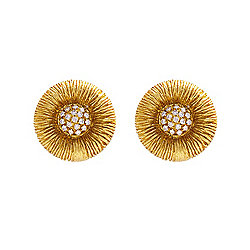 Michelle Albala 18K Gold 0.30ctw Diamond Stud Earrings