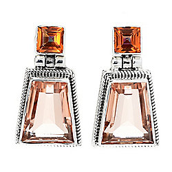 Nicky Butler Sterling Silver 10.80ctw 10 x 12mm Quartz & Topaz Drop Earrings