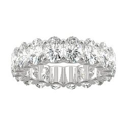 186-715 Moissanite by Charles & Colvard 14K White Gold 7.50 DEW Oval Cut Eternity Band - 186-715