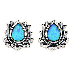 Passage to Israel™ Sterling Silver Opalite Teardrop Stud Earrings