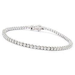 Bracelets - Diamond Treasures® 14K Gold 3.00ctw Choice of Length Diamond Tennis Bracelet - 186-940