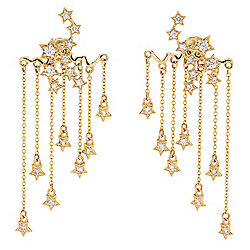 Gems of Distinction™ 14K Gold 0.75ctw Diamond Shooting Stars Convertible Drop Earrings