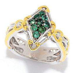 Rings 187-333 Gems en Vogue Choice of Precious Gemstone Marquise Shaped Cluster Ring - 187-333