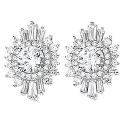 Victoria Wieck for Brilliante® 4.04 DEW Multi Cut Simulated Diamond Stud Earrings