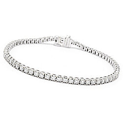 187-501 EFFY 14K White Gold 7 2.00ctw Diamond Tennis Bracelet - 187-501