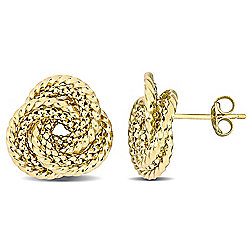 Julianna B 10K Gold Textured Love Knot Stud Earrings, 2.63 grams