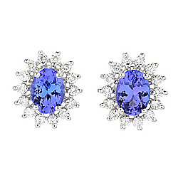"EFFY ""Tanzanite Royale"" 14K White Gold 2.92ctw Tanzanite & Diamond Earrings"