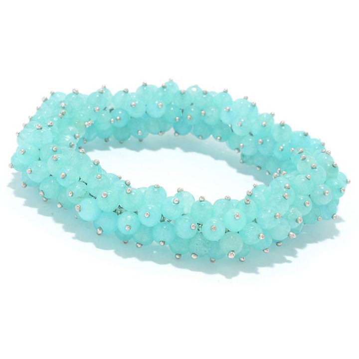 Dallas Prince Designs Your Time To Shine at ShopHQ 188-284 Dallas Prince 6-6.5mm Gemstone Bead Stretch Bracelet