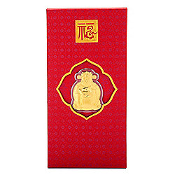 "Lambert Cheng 24K Gold ""God of Wealth"" Red Envelope Collectible Gift"
