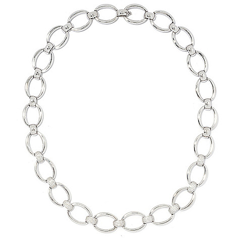 "Diamond_Treasures® Kathy's_Collection 19.5""_1.00ctw Diamond_Pave Open_Link_Necklace"
