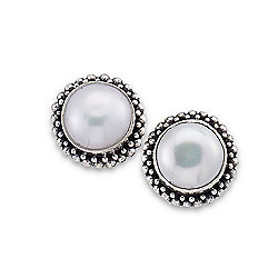 Artisan Silver by Samuel B. 6mm Freshwater Cultured Pearl Stud Earrings
